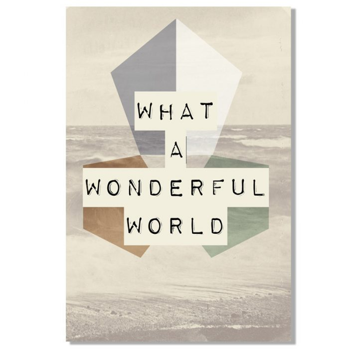 Poster what a wonderful world