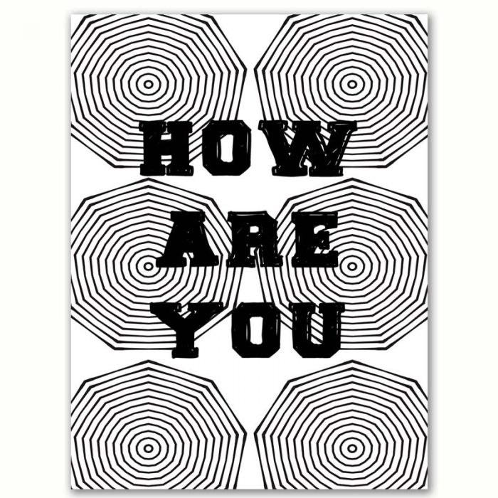 Poster zwart-wit HOW ARE YOU
